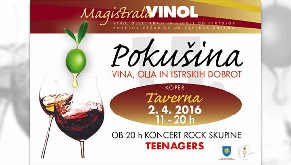 Vinol: Pokušina Vin, oljčnih olj in istrskih dobrot