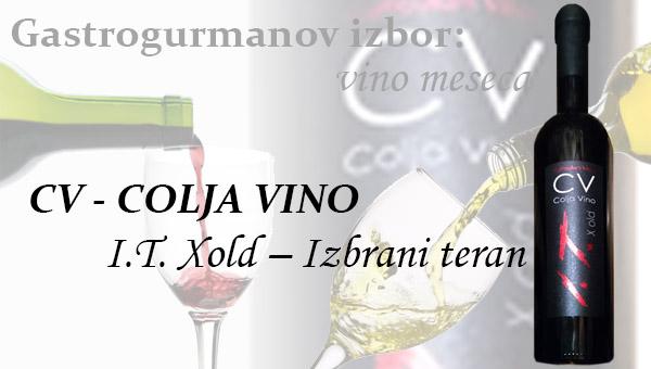 Gastrogurmanov izbor za vino meseca: I.T. Xold – Izbrani teran 2005