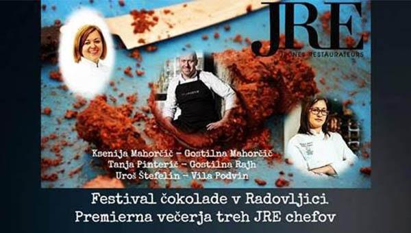 Premierna večerja treh JRE chefov pred festivalom čokolade