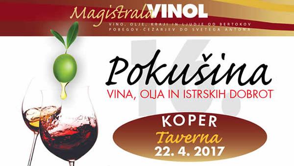 Vinol 2017: Pokušina Vin, oljčnih olj in istrskih dobrot