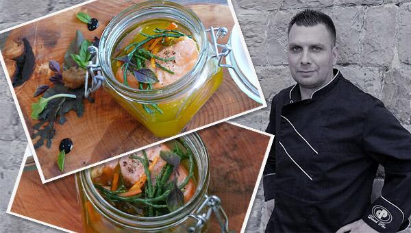 Chefov recept: Losos – confit oz. oliocottura – Pirc Daniel