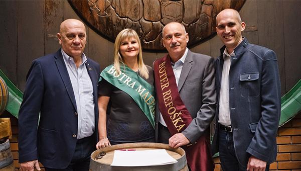 Novi vinski botri mladih vin kleti Vinakoper