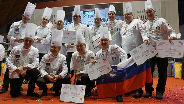 Ekipa Slovenske kuharske reprezentance zlata na Grand Prix of Mediterranean Cuisine 2018