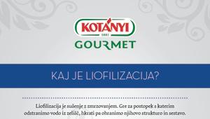 Kotanyi Gourmet – Veste kaj pomeni izraz liofilizacija?