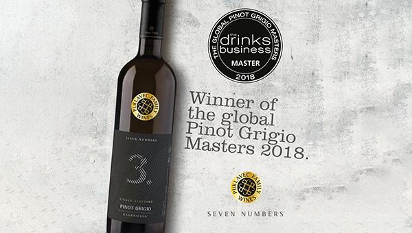 Sivi pinot Seven Numbers iz vinske kleti Puklavec Family Wines med najboljšimi na svetu!