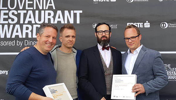 The Slovenia Restaurant Awards: Calypso in Tiffany med TOP 10 slovenskimi hotelskimi restavracijami