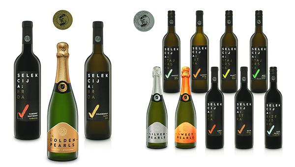 Kar 12 medalj za Selekcijo, HOFERjevo linijo vin in penin
