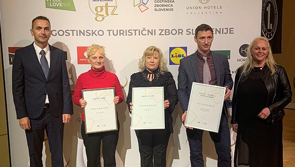 Hitovci s priznanji Turistično gostinske zbornice za kakovost in uspešnost