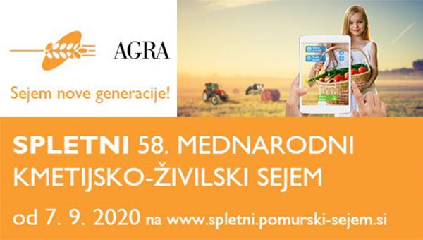 7. SEPTEMBRA PRIHAJA SPLETNI SEJEM AGRA 2020!
