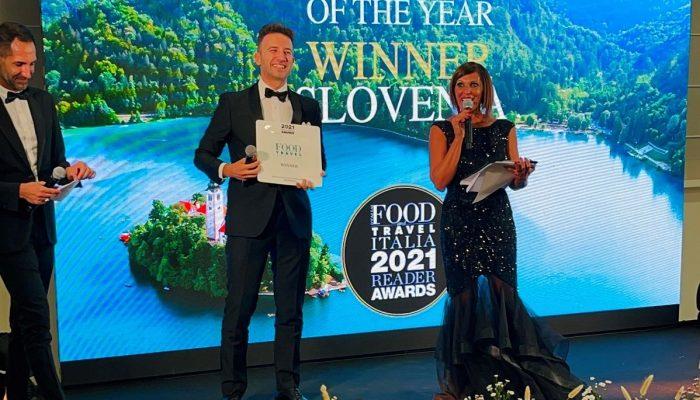 Gastronomska revija Food and Travel Italia nagradila Slovenijo in vodjo predstavništva STO v Italiji